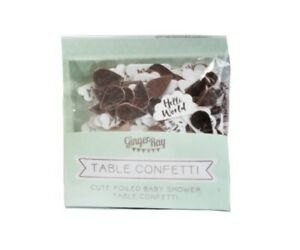 Ginger Ray Rose Gold Hello World Cloud Table Confetti Baby Shower 4 Packs