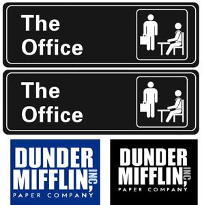 The Office Sign Sticker, Dunder Mifflin Sign Sticker for wall door 9''X3'', USA!