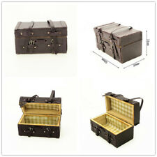RC 1/10 Scale Truck Accessories WOOD LEATHER LUGGAGE STORAGE For SCX10 TRX-4
