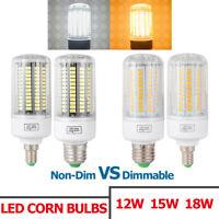 Luz Bombilla de maíz LED regulable 18W 15W 12W 9W Lámpara proyector SMD Dimmable