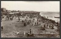 Postcard Weston Super Mare Somerset view The Sands posted 1913 RP Harvey Barton