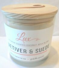GOLD CANYON 12 OZ. VETIVER & SUEDE COCONUT WAX BLEND SCENT 2 WICK CANDLE 350G