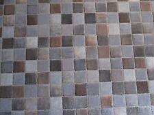 PVC CV 9,25€/m² Bodenbelag Mosaik Fliesen alu braun 200 cm Boden