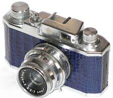 Vintage HALINA 35X CAMERA. BLUE REPTILE SKIN