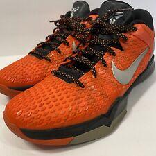 RARE🔥 Nike Zoom Kobe VII 7 System TB Orange Black Silver 517359-800 sz 13 Mamba