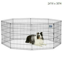 """Folding Exercise Pet Playpen Portable Kennel Dog Fence Puppy 30""""H Outdoor Travel"""