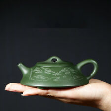 4oz authentic yixing zisha green clay tea pot original ore shipiao pot handmade