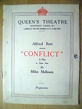 Queen's Theatre Programme 1925- CICELY BYRNE in CONFLICT by Miles Malleson