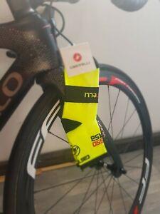 Fluorescent yellow & Black cycling socks size 7-13