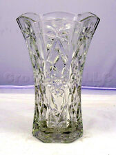 """Clear Glass Sun Star Pattern Flower Bouquet Floor Vase - 10"""" inches Tall"""