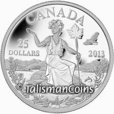 2013 Miss Canada Allegory Seated Goddess Allegorical $25 1 Oz Pure Silver Proof