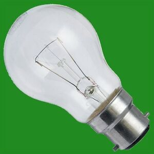 12x 100W Clear Incandescent Standard Filament GLS Light Bulbs Bayonet Cap BC B22