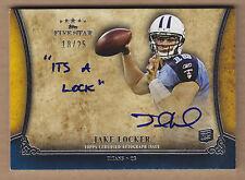 11 2011 Topps Five Star Futures Quotable Jake Locker Auto RC Autograph #'d /25