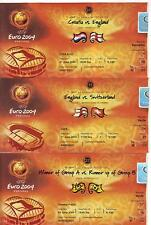 Euro 2004 Set Of Four England Tickets  Excellent v France Croatia Portugal Swiss
