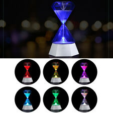 Night light Romantic Colorful Sandglass Decor Lamp Gift 15Minute Hourglass Timer