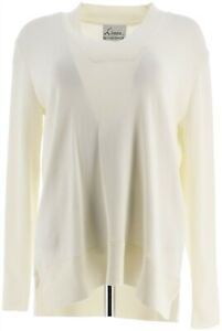Linea Louis Dell'Olio V-Neck Sweater Ivory S # A347438