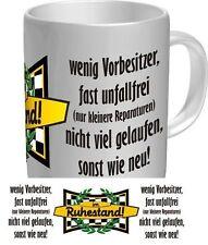 2 Tassen im Ruhestand wenig Vorbesitzer gelaufen Opa Spühlmaschinenfest Kaffee