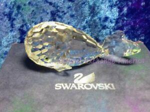 Swarovski Crystal Whale  014483, Retired 1991.  Artist Signature