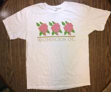 Vintage Washington DC T-shirt With Tags White Flowers Anvil America Men's Sz XL