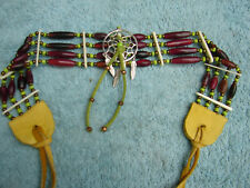 Buffalo Bone Choker, Dreamcatcher Choker, Native American, Tribal, Handmade