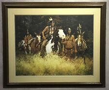 The Warning by Howard Terpning Native American Western Art LE Print Framed