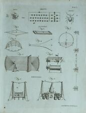 1783 ORIGINAL PRINT ABACUS ACOUSTICS DIAGRAM ACARUS AEROSTATION APPARATUS