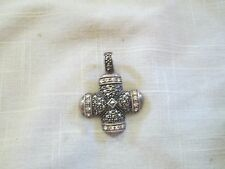 Sterling Silver Marcasite Maltese Cross Enhancer Pendant