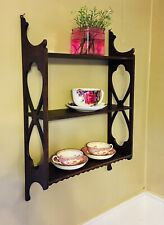 1945 Antique Wooden Wall 3 Tier Shelves 26 x 18 x 5 5/8 Made in Albany, Usa