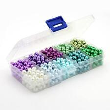 50 Stück Trend Pastel Glas Perlen Schmuck 6 mm Zubehör Bastelset Basteln neu