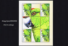 2009 - Australia - Norfolk Island - Green Parrot - mini-sheet - MNH