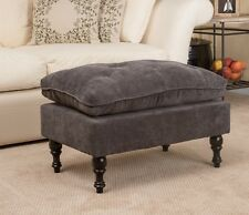 Tufted Ottoman Foot Stool Large Ottomans Gray Affordable Living Room Furniture