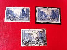 Lot de 3 timbres N°216-261b-261c oblitéré 1929 Lot 251