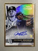 2020 Topps Gold Label Michael Brosseau Rc Framed Auto #GLA-MB Tampa Bay Rays