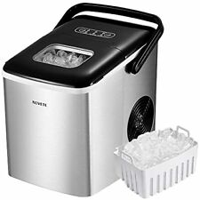 Novete Portable Ice Maker for Countertops, Ice Ready in 6 Minutes, 28.7 lb Ice i