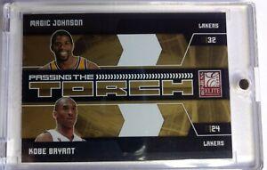 2009 Donruss Elite Passing the Torch Gold Kobe Bryant Magic Johnson #1, #'d /100