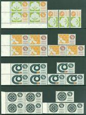 EDW1949SELL: Mexico 1987-88 Sc#1497-1505 Alto Valore 7 Set. VF, Mnh. Gatto