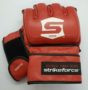 1 Pair Of New Strikeforce Official Fight Gloves RED Size XL MMA Century UFC