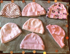 Baby Girl Beanie Variety, Sizes 0-6 Months, Pack Of 7