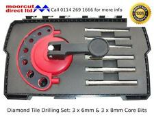 Diamond Tile Drilling Set 6mm's & 8mm's for Red & Brown Plug Fixing Sizes