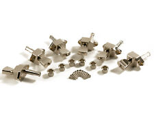 Kluson 6 in line Firebird Stairstep Tuners Nickel for Reverse Head KBT-9006SLN/M