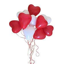 100 rot weiß Herzluftballon Luftballon Ballon für Helium Herzballons Deko