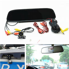 Car HD Rearview Mirror Monitor Parking Assistance LED Reversing Rear View Camera