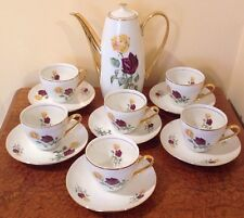 VINTAGE BONE CHINA COFFEE/TEA  SET-BOHEMIA ,CZECHOSLOVAKIA