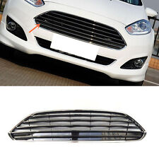 For Ford Fiesta 2014-2016 ABS Chrome Horizontal stripes front grille vent