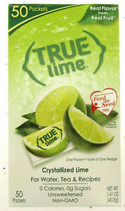 True Lime ~ Crystallized Lime ~  Real Flavor From Real Fruit ~ 50 Packets