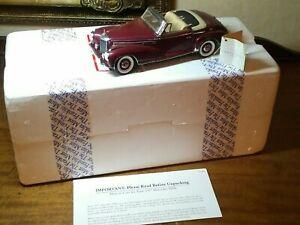FRANKLIN MINT 1957 MERCEDES BENZ 300 SC ROADSTER - BURGUNDY W/BOX 1/24 SCALE