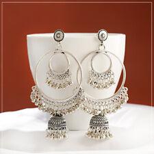 Charm Gold Women Tassel Big Circle Earrings Hoop Dangle Drop Ear Stud Jewelry NE