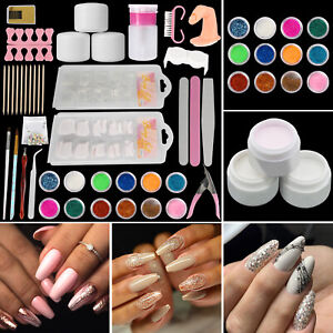 Professional Acrylic Nail Kit Powder Glitter Art Manicure Tool Tips Brush Set