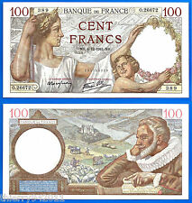 France 100 Francs 1941 4 December UNC Sully Serie O Europe Frcs Frs Free Ship Wd