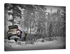 VW Polo WRC - 30x20 pollici Tela Foto Incorniciata stampa RALLY